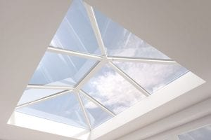 Large white uPVC extension lantern roof